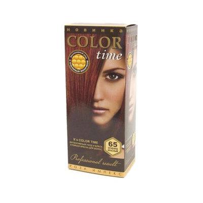 Гель- краска для волос Огненно- красный Color Time Роза Импекс 100 ml