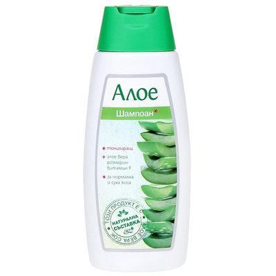 Тонизирующий шампунь для нормальных и сухих волос с алоэ Вера Роза Импекс 300 ml