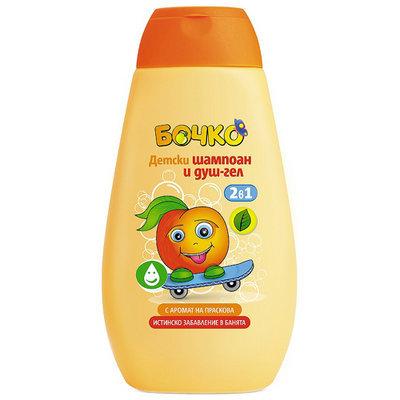 Детский шампунь и гель для душа 2в 1 с ароматом персика Лавена Baby Ёжик 250 ml