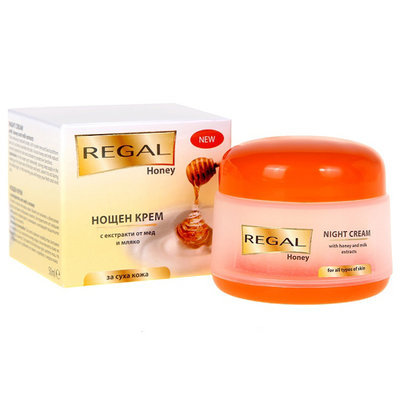 Крем для лица ночной с экстрактами из меда и молока Regal HoneyРоза Импекс 50 ml