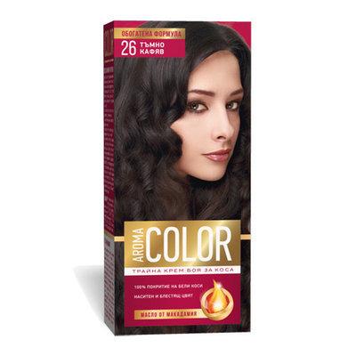 Крем- краска для волос № 26 Темно- коричневый Aroma Color 45 ml
