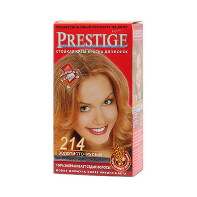 Крем-краска для волос Золотисто- русый Prestige Vip's Роза Импекс 100 ml