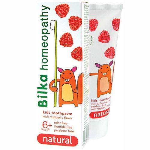 Гель- паста зубная детская homeopathy NATUREL 6+ со вкусом малины Билка 50 ml
