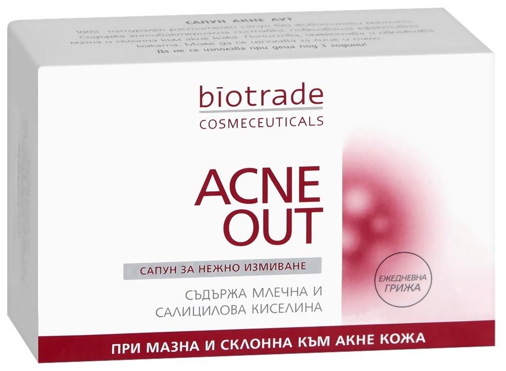 Мыло против акне (угревой сыпи) AKNE OUT Биотрейд 100 gr