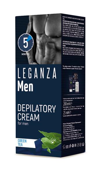 Депилирующий крем для мужчин Man Leganza Роза Импекс 200 ml