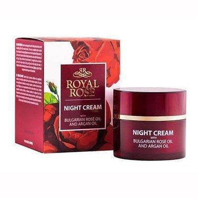 Питательный ночной крем для лица с розовым маслом Royal Rose 50 ml