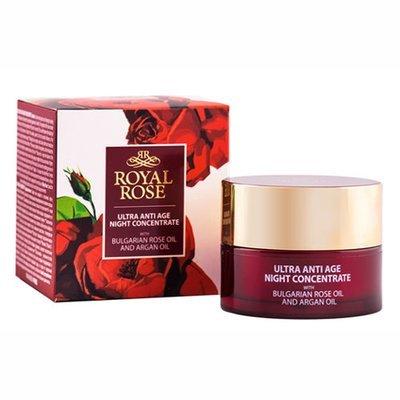 Ночной антивозрастной концентрат для лица с розовым маслом Royal Rose 40 ml