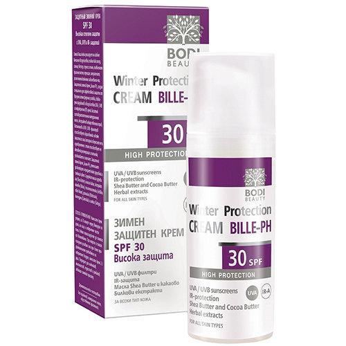 Защитный зимний крем с UV-A и UV-B фильтрами SPF 30  БИЛЕ-РН Боди-Д 50 ml