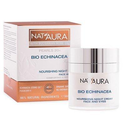 Питательный ночной крем для лица и контура вокруг глаз NAT'AURA 20+ Биофреш 50 ml