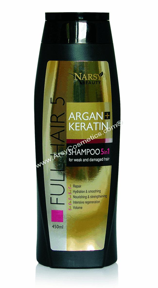 Шампунь для волос Арган&Кератин 5в1 Narsya Arsy Cosmetics 450 ml