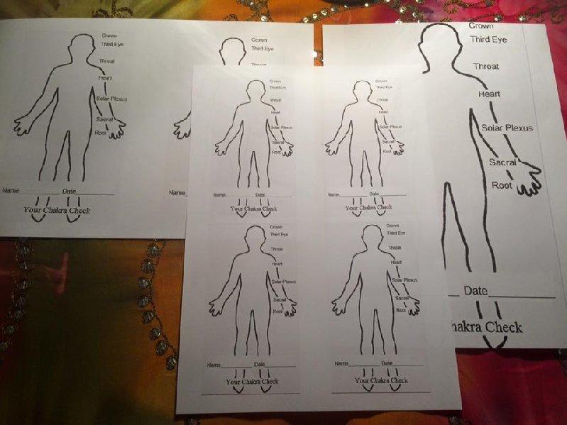 picture regarding Printable Chakra Chart identify Printable 3 Sizing Blank Chakra Examine Charts
