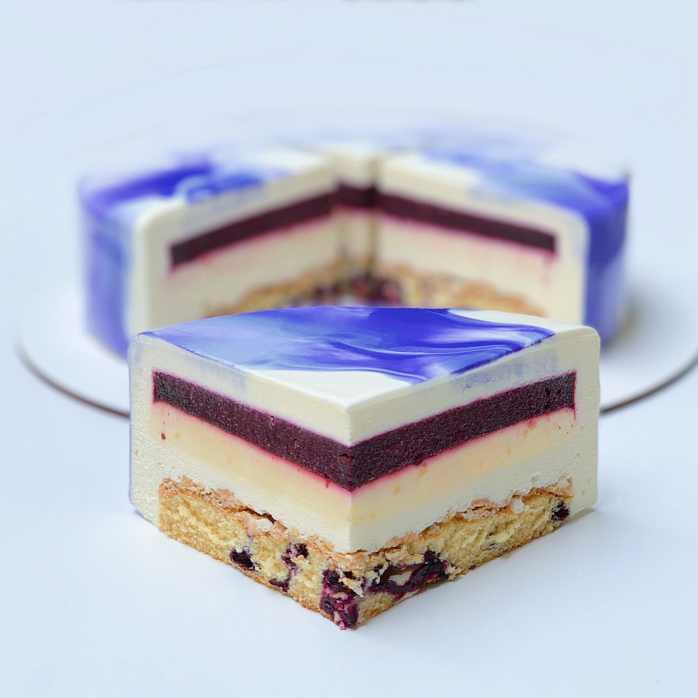 Торт Йогурт-Чорниця-Цитрус