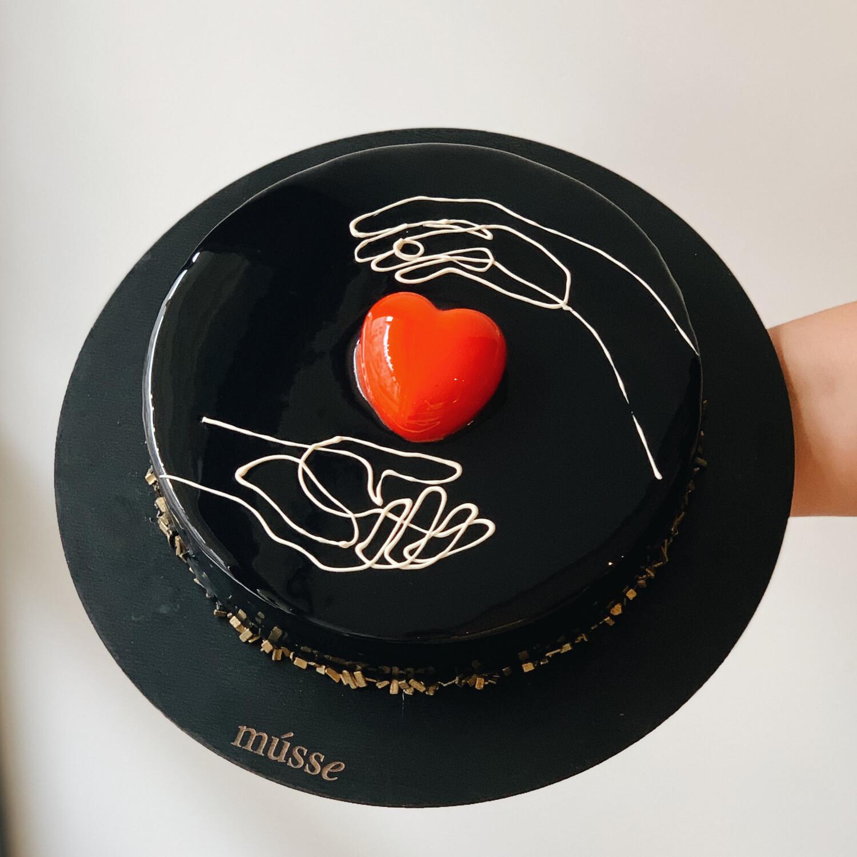 "Торт мусовий ""the black heart"""