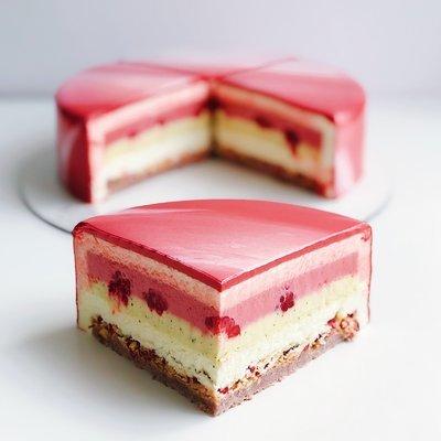 Торт Малина-м'ята-лайм