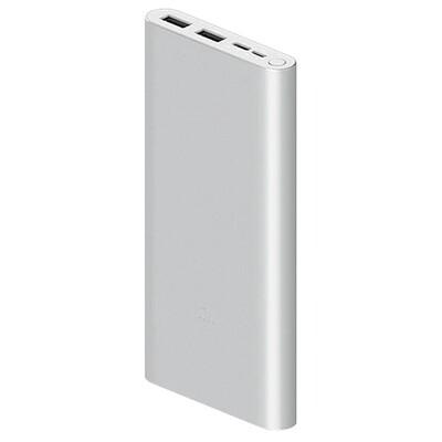 Внешний аккумулятор Xiaomi Mi Power Bank 3 10000 mAh (PLM13ZM) (серебристый)