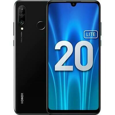 Смартфон Honor 20 Lite 4/128Gb RUS (полночный черный)