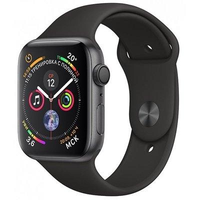 Умные часы Apple Watch Series 4, GPS, 40 мм, корпус из алюминия цвета «серый космос», спортивный ремешок черного цвета