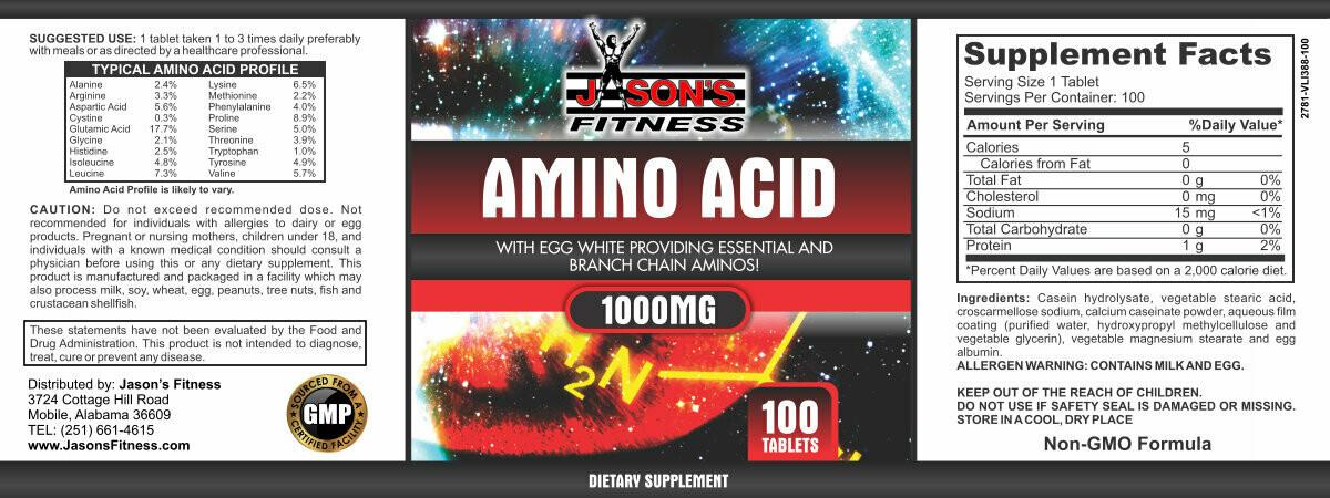 Amino Acid 1000MG  100 Tabs