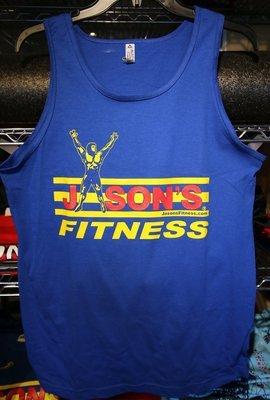 Jason's Fitness Tank Top Royal Blue