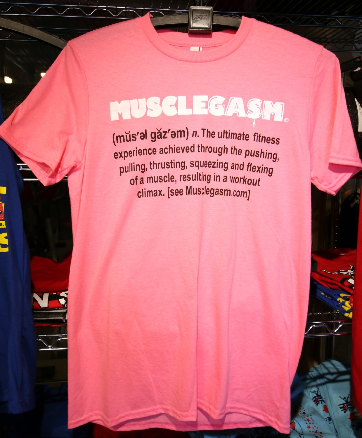 MUSCLEGASM T-Shirt Hot Pink 4.3