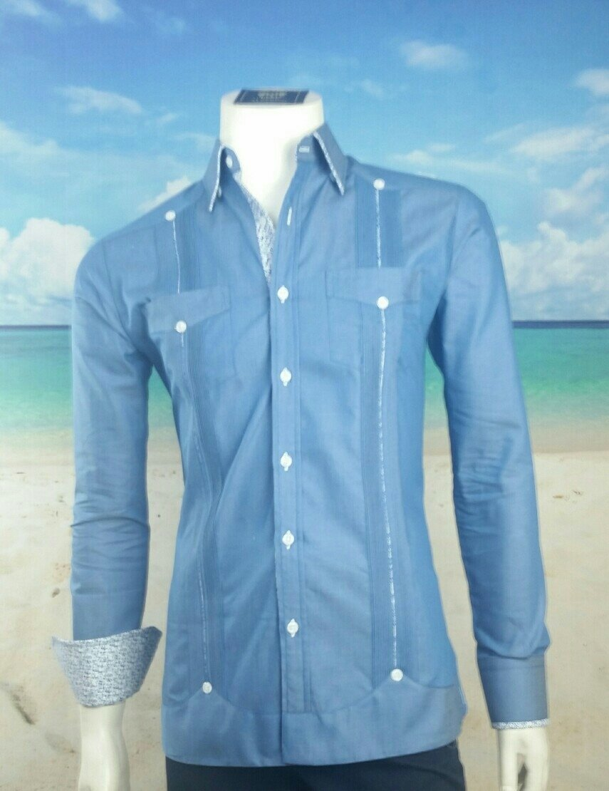 Guayabera Custom Made Long Sleeve 100 Cotton 25990 Take Your
