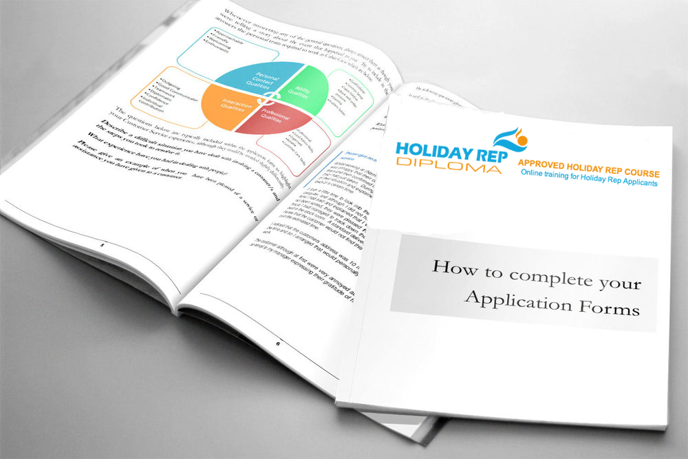 Holiday Rep application form Links, Application Form and Holiday Rep CV Template REP009