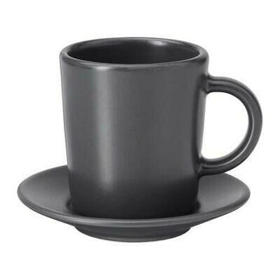 ДИНЕРА Чашка для кофе эспрессо с блюдцем