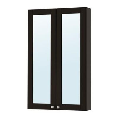 ГОДМОРГОН Зеркальный шкаф с 2 дверцами - Кашён темно-серый