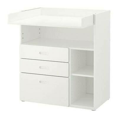 СТУВА / ФРИТИДС Пеленальный стол с ящиками - белый/белый