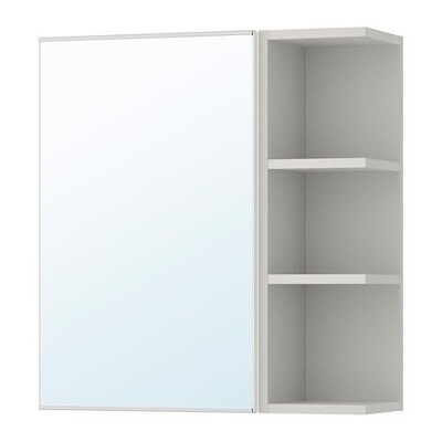 ЛИЛЛОНГЕН Шкафчик зеркальн с 1 дв/1 торц скц