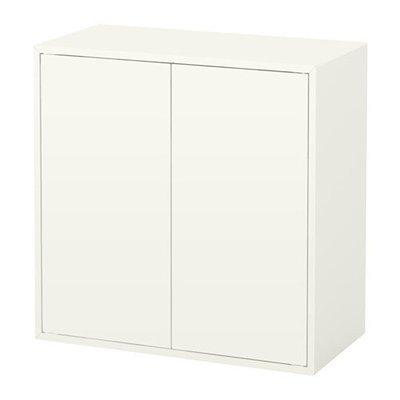 ЭКЕТ Шкаф с 2 дверцами и 1 полкой - белый