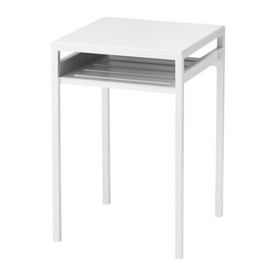 НИБОДА Столик с двусторонней столешницей - белый/серый