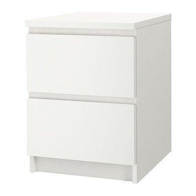 МАЛЬМ Комод с 2 ящиками - белый