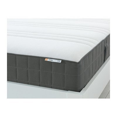 ХОВОГ Матрас с пружинами карманного типа - 140x200 см, жесткий/темно-серый