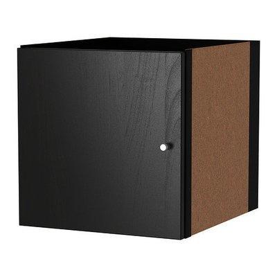 КАЛЛАКС Вставка с дверцей - черно-коричневый
