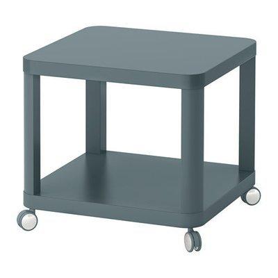 ТИНГБИ Стол приставной на колесиках - бирюзовый