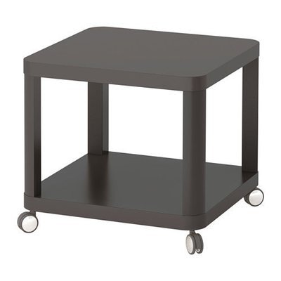 ТИНГБИ Стол приставной на колесиках - серый