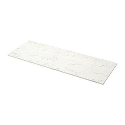 ЭКБАККЕН Столешница - белый под мрамор, 186x2.8 см