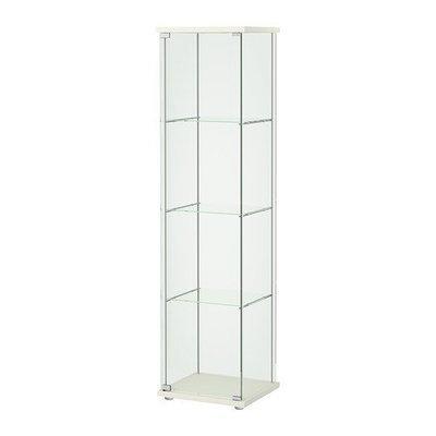 ДЕТОЛЬФ Шкаф-витрина - белый