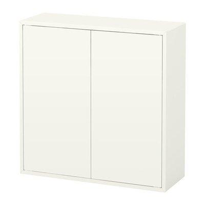 ЭКЕТ Шкаф с 2 дверцами и 2 полками - белый
