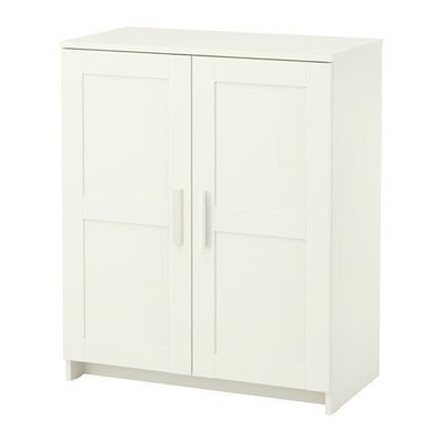 БРИМНЭС Шкаф с дверями - белый