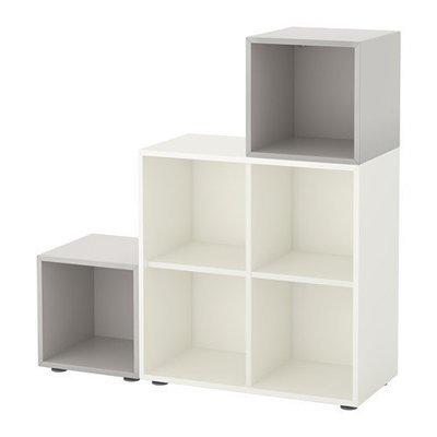 ЭКЕТ Комбинация шкафов с ножками - белый/светло-серый