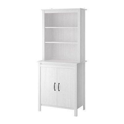 БРУСАЛИ Высокий шкаф с дверцей - белый