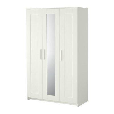 БРИМНЭС Шкаф платяной 3-дверный - белый
