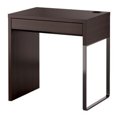 МИККЕ Письменный стол - черно-коричневый