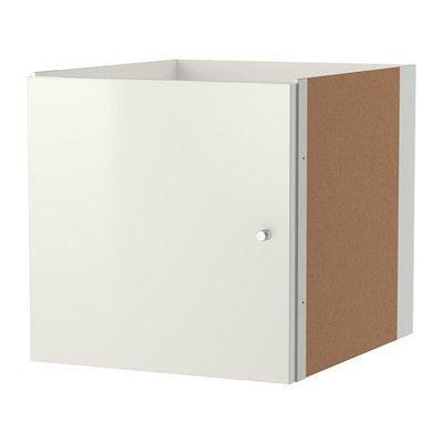 КАЛЛАКС Вставка с дверцей - глянцевый белый