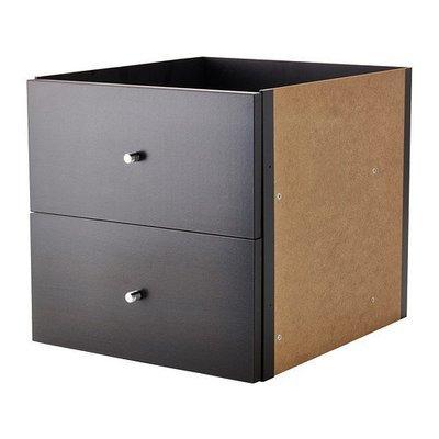 КАЛЛАКС Вставка с 2 ящиками - черно-коричневый