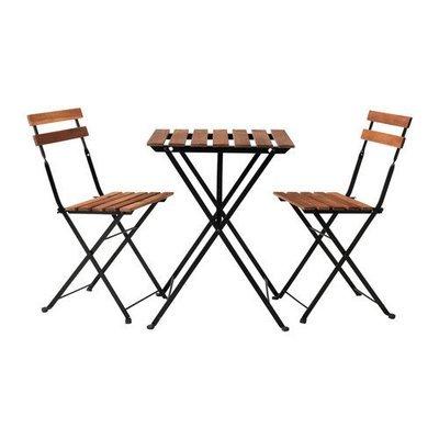 ТЭРНО Стол+2стула,д/сада - Тэрно черный/серо-коричневая морилка
