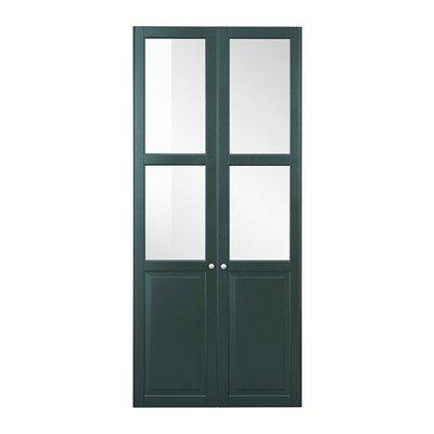 ЛИАТОРП Панельн/стеклян дверца - темный оливково-зеленый