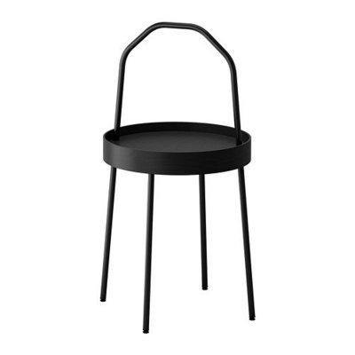 БУРВИК Придиванный столик - черный